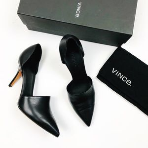 VINCE Claire D'Orsay Black Heels Size 7.5 Pointed